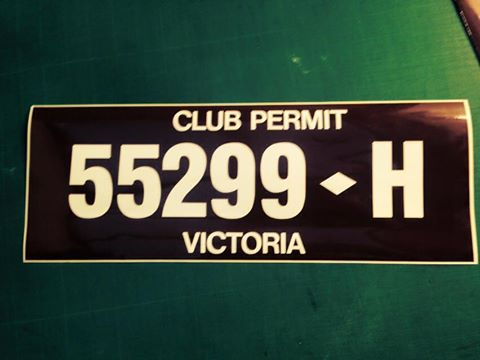 Stick on number plates are now available for club registration or everyday rego.
