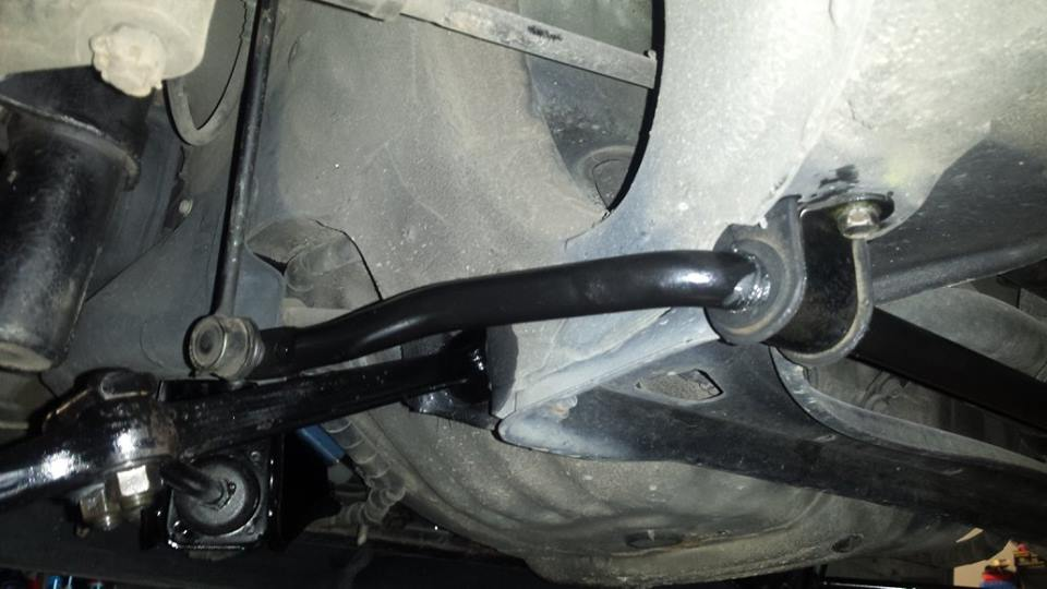 Custom made front adjustable sway bar